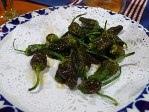 Pimientos de Padrón St James Way food