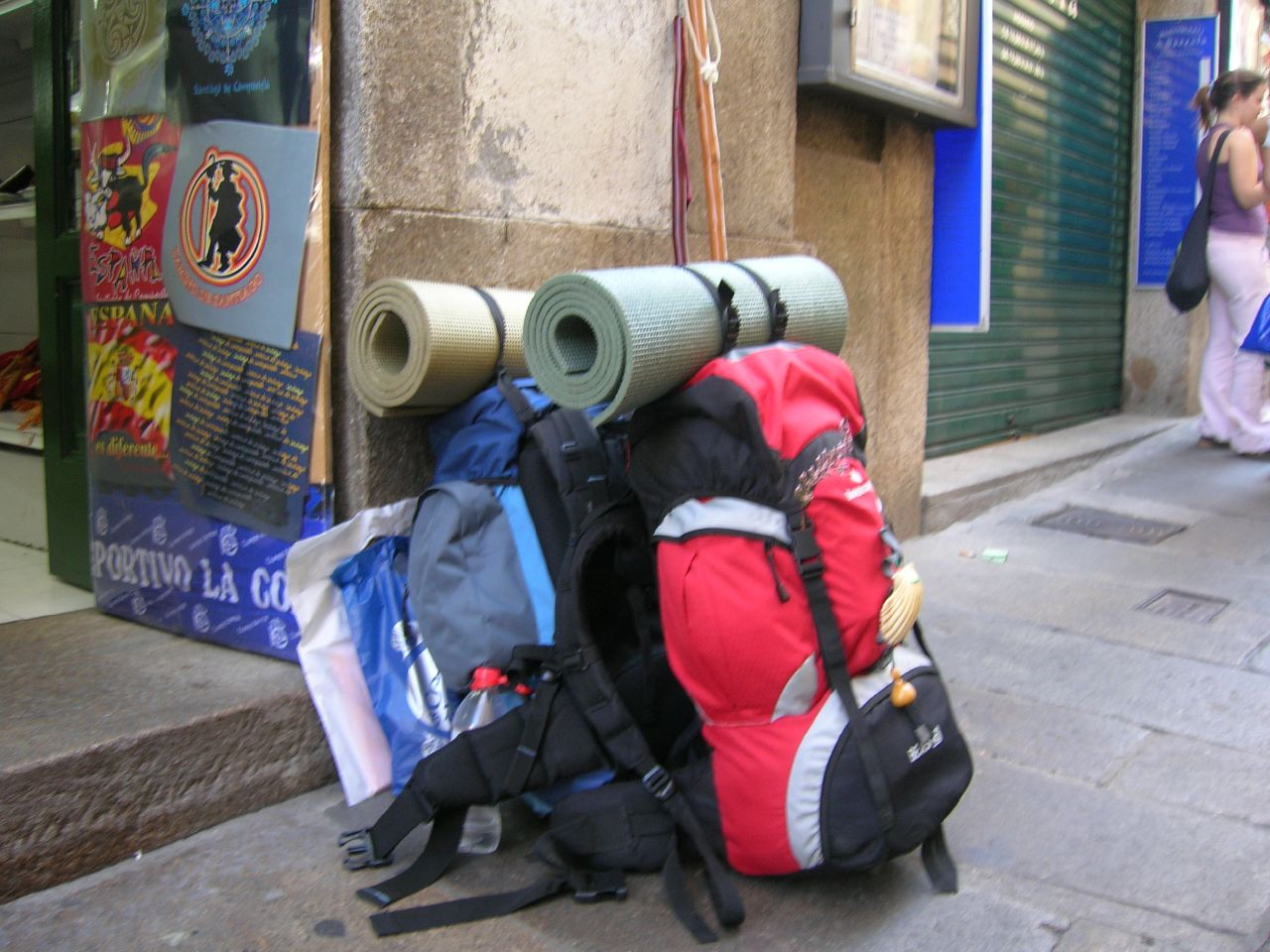camino de santiago mochilas