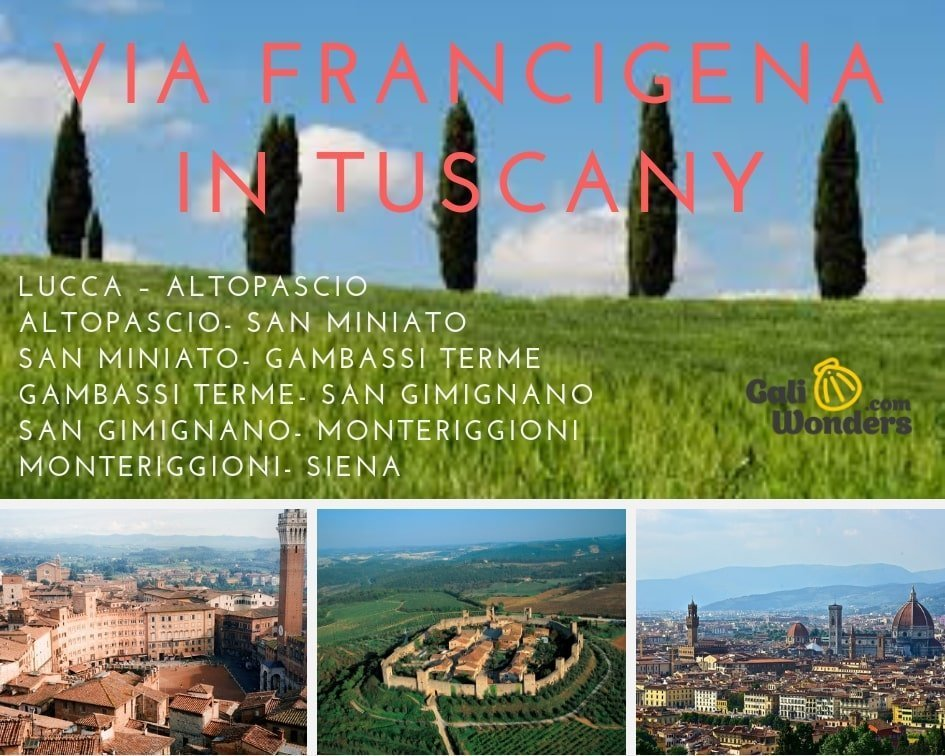 Via Francigena Tuscany galiwonders