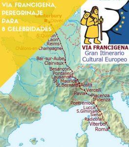Mappa Via Francigena Galiwonders