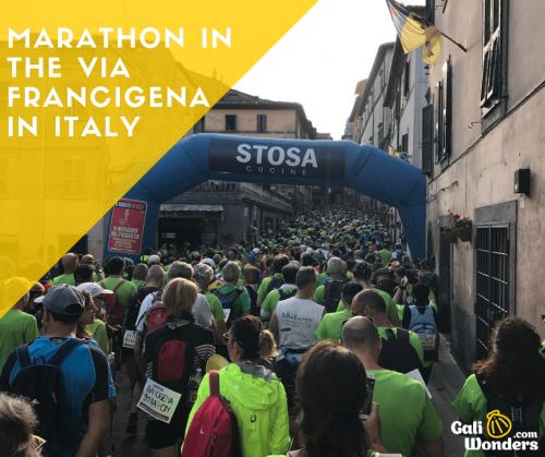marathon via francigena italy galiwonders