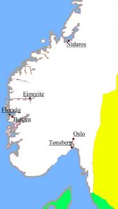 Mapa Camino de San Olav