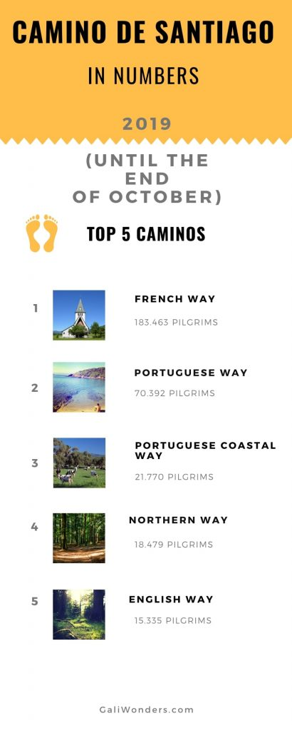 most popular routes camino 2019