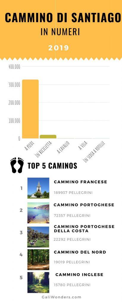Cammino di Santiago cifre