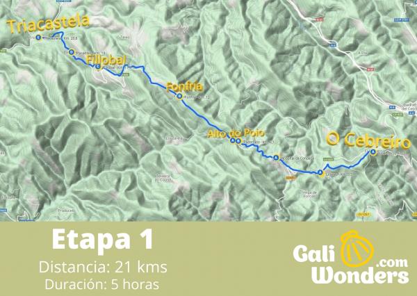 Camino de Santiago desde O Cebreiro