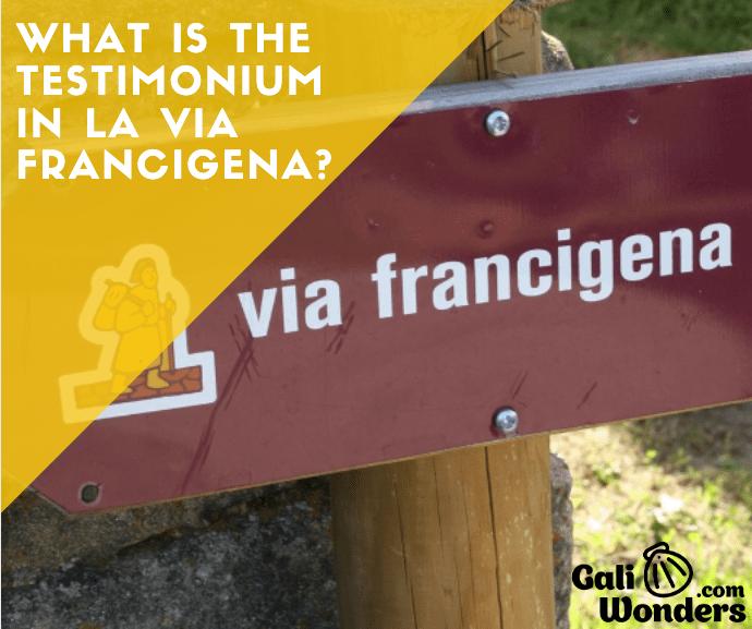 Waht is the testimonium via francigena