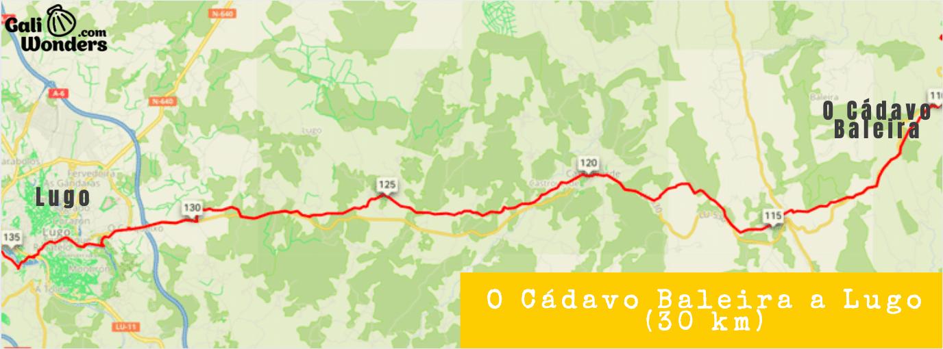 Camino Primitivo en Bicicleta O Cadavo Baleira a Lugo