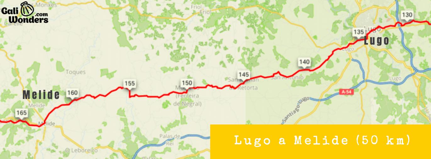 Camino de Santiago Primitivo en bicicleta de Lugo a Melide