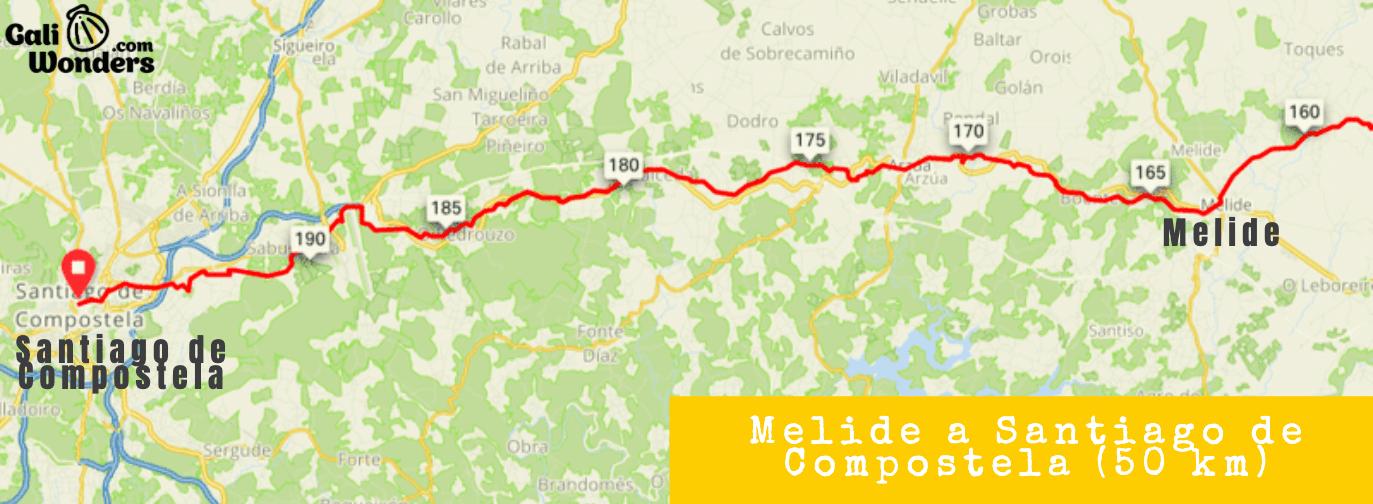 Etapa en bici de Melide a Santiago de Compostela