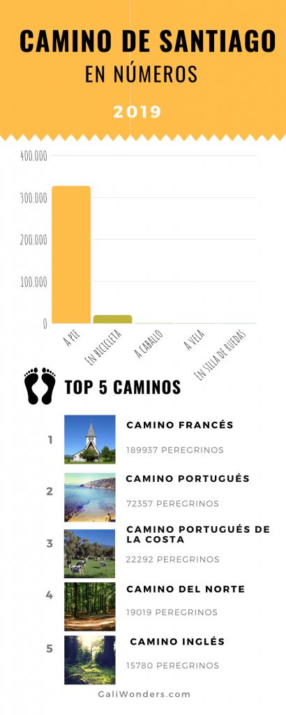 Camino santiago cifras 2019 Galiwonders 410x1024 5