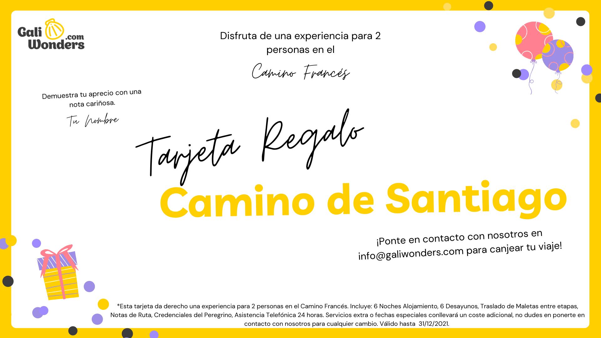 Tarjeta regalo Camino de Santiago
