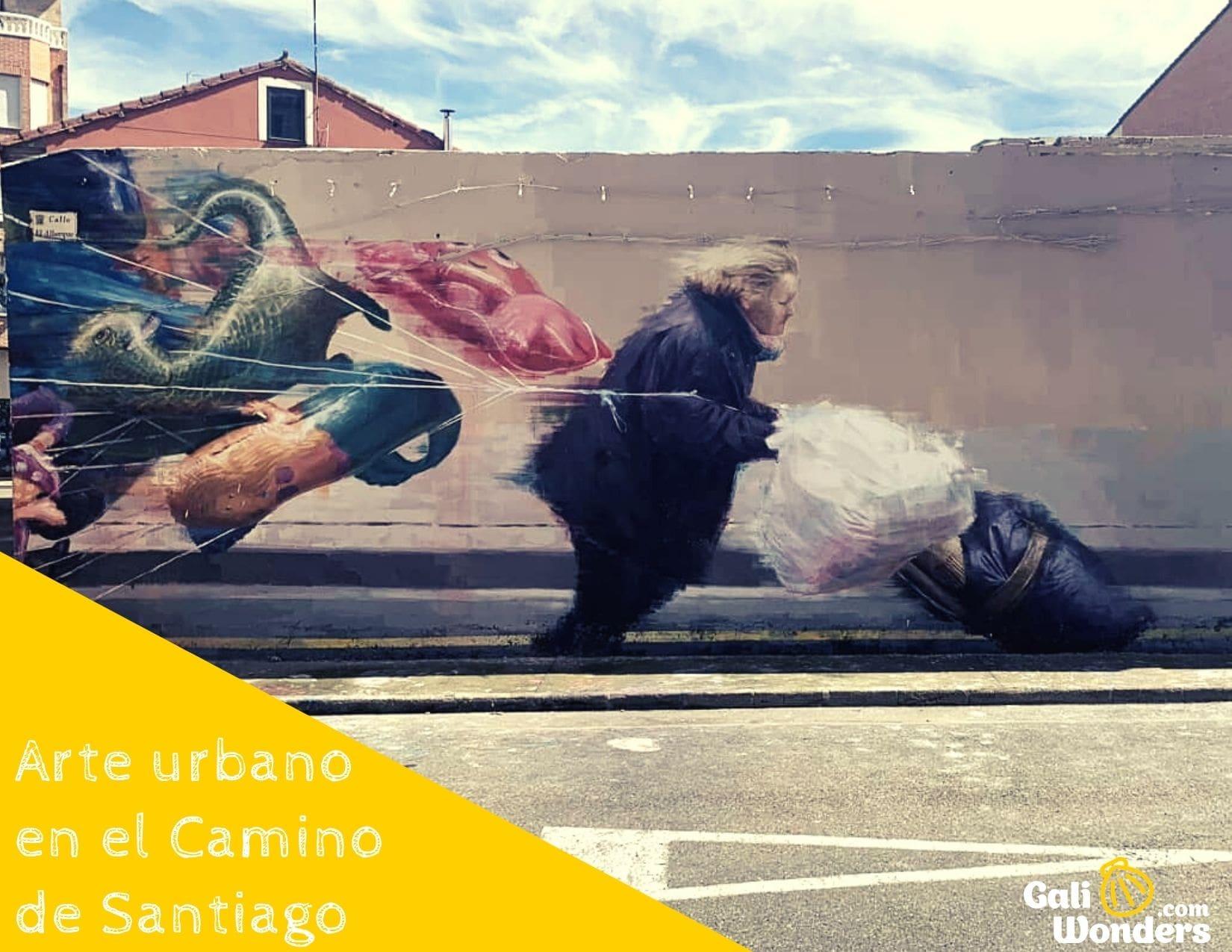 Arte urbano en el Camino de Santiago
