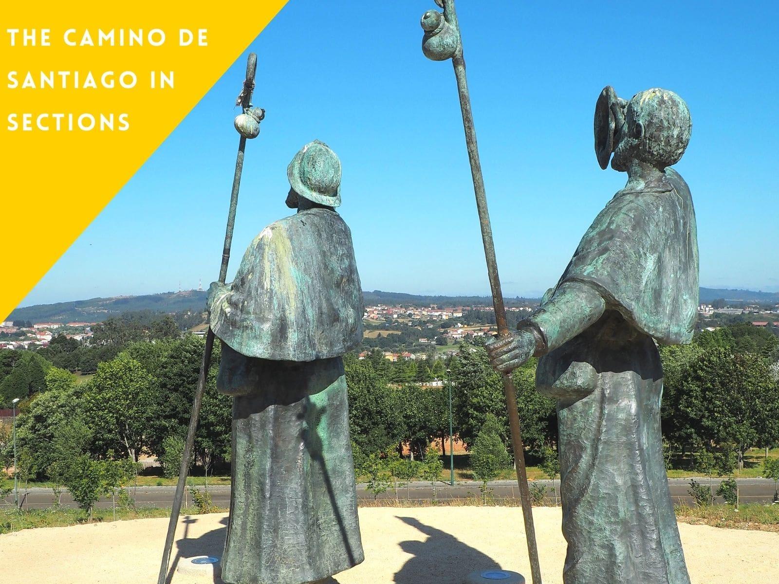 The Camino de Santiago in sections galiwonders