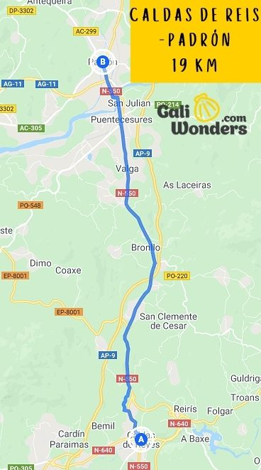 CALDAS DE REI PADRÓN 19 KM 1 min