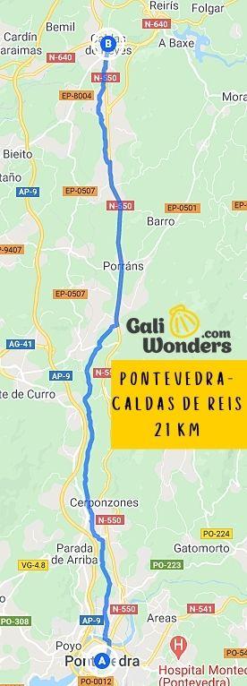 PONTEVEDRA CALDAS DE REI 21 KM 1 min